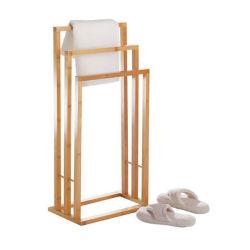 最もよい価格のカスタマイズされた浴室の付属品はタケ表示タオルの棚を掛ける