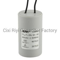 수도 펌프 모터 세탁기를 위한 Cbb60 10UF 450V AC 모터 실행 축전기