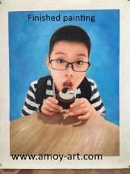 Het met de hand gemaakte Speciale Olieverfschilderij van het Portret van de Gift van de Verjaardag voor het Decor van de Muur