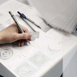 A3a4a5esboçar de Ácido Sulfúrico translúcidas de papel papel para o desenho de engenharia da apalpação