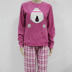 Manga Larga mujer Pajama Forro Polar con parche bordado