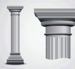 La pared externa de la columna EPS decorativos