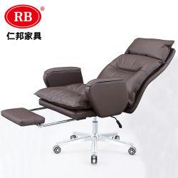 Современное высокое качество заводская цена высокие кожаные эргономичная мебель административной канцелярии Председателя поворотный стул с подлокотником
