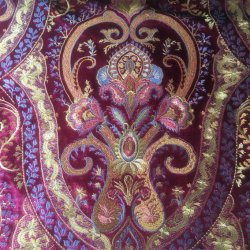 Los encajes bordados Tela de cortina