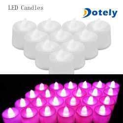 Sin Flama té LED blanco cálido eléctrico de la luz de velas falsos