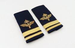 4 бара экспериментальных торгового флота авиакомпании плечо единообразных ранга Epaulettes передвиньте черный с района Gold полосы