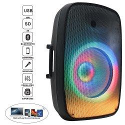 """L'audio 300W 15"""" Active les lampes LED flamme PA/DJ Sound Box jeux sans fil du système de karaoké Bt-Tws-Mic--FM-Echo- Bocina parlante"""