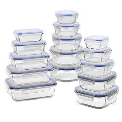 Saída de fábrica de vidro transparente Recipiente Alimentar Lunch Box de vidro hermeticamente fechados