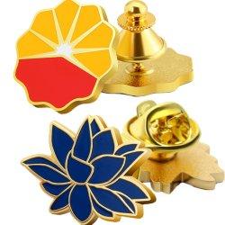 15 años BSCI principal fábrica de hacer Custom sello de metal moderno de oro en 3D Pin como para el recuerdo