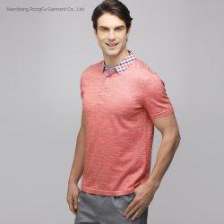 남자의 실크 면 리넨 격자 무늬 t-셔츠 우연한 태양열 집열기 남자의 폴로 셔츠