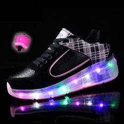 Verberg de able Roller Wheel knipperende LED Schoenen Casual Shoes Sport Schoenen Unisex schoenen