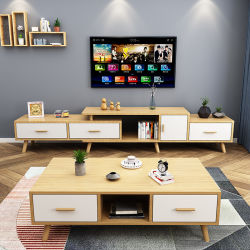 Venda a quente estilo nórdico Sala Burlywood mobiliário minimalista e moderno em madeira mesa de café