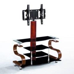 Venda a quente pintura a óleo de alta qualidade superior do retângulo da perna de madeira suporte de TV de vidro