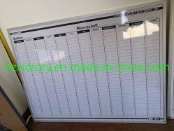 アルミニウムフレーム(VWB 57)が付いている月例カレンダのための印刷されたWhiteboard