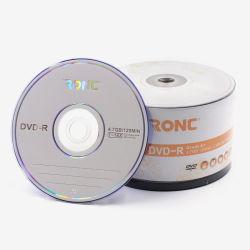 Marchio facile stampabile vuoto DVD stampabile dell'asse di rotazione di musica 100 dell'ustione del pacchetto DVD R 16X 4.7GB del commercio all'ingrosso 50 di Ronc