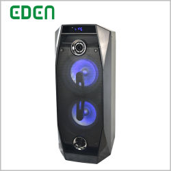 Recargable inalámbrica portátil profesional de Karaoke DJ Bluetooth Carrito caja acústica de altavoces PA con luz LED RGB-802ED