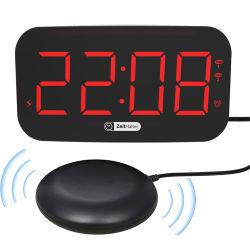 أكثر شعبيّة أحمر [ديجتل] منبه ساعة سبعة - لون ليل ضوء شاحن ساعة منبه الشحن USB في الدرج الهزاز 3 في 1 المحطة