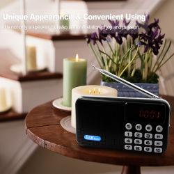 راديو DAB صغير رقمي محمول عالي الجودة مع سماعة BT، وقرص U، وتشغيل MP3 لبطاقة St