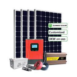 صُنع في الصين 3 كيلو واط، 5 كيلو واط، 10 كيلو واط، طاقة منزلية خارج الشبكة نظام لوحة الطاقة الشمسية لسخان المياه