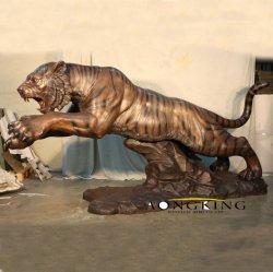 공장에서 인기 있는 동물 장식 황동 호랑이 조각상