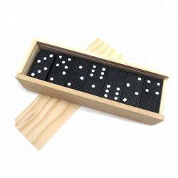 Jogos de corrida dominó de madeira para adulto, conjunto de dominó de madeira antiga profissional