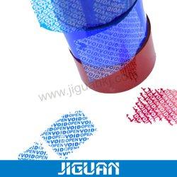 Nastro vuoto di carta su ordinazione del contrassegno dell'autoadesivo del marchio della garanzia