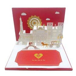 De Kaarten van de groet Muzikale Correcte 3D de omhoog Begroetende Kaart knalt van de Uitnodiging van het Huwelijk danken u Gift aanpassen Kerstmis van het Document Vakantie RoHS