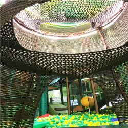 Sede di plastica dell'oscillazione del bambino netto e dell'interno lavorata a maglia parco di divertimenti esterno