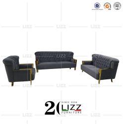 Sektional Wohnzimmer Soft Samt Stoff Sofa Stuhl Möbel