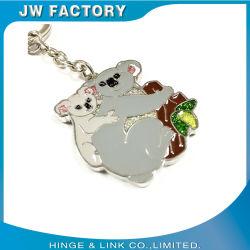 Portachiavi in metallo personalizzato per la suoneria, portachiavi con logo personalizzato per animali