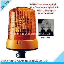 Оранжевый цвет марки Hella 12V/24V PC крышку ксеноновой спираль стробоскопической лампы с DIN адаптер сигнальные фары (TBL 280)
