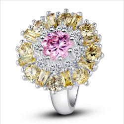 結婚指輪のギフト925の純銀製の宝石類カラー宝石用原石