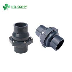 Пластмассовый контрольный клапан Поворотный пружинный запорный клапан ПВХ шаровой обратный клапан