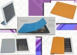 Slimme Dekking van het Leer van het nieuwe Product de Rode voor iPad