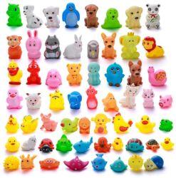 Animaux mignons Eaux de baignade jouets colorés de flottement en caoutchouc souple Squeeze son grinçant jouet de bain pour bébé Jouets de bain