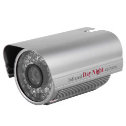 "1/3"" 800TVL color CMOS de corte de IR CCTV exterior cámara resistente al agua Caja de metal"