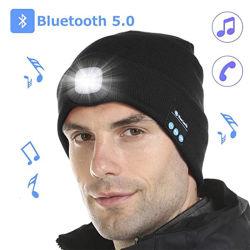 Bluetooth와 Light를 탑재한 핫 세일즈 LED 충전식 니트 모자 크리스마스 신년 선물 모자