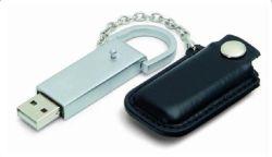 Cadeaux promotionnels cuir lecteur USB 1 Go USB 2.0-64GO (OM-L807)