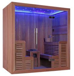 LEDの軽いヒマラヤスギの木製のHarviaの贅沢なヒーターの新しいサウナ部屋(M-6044)