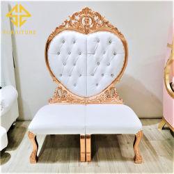 China Factory High Back Gold Frame King Throne Sofa met Gestoffeerde stoel