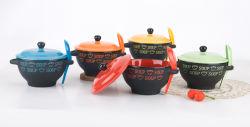 Soupe de grès Mug avec cuillère (EW12205)