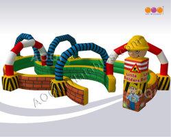البناة في الهواء الطلق سباق المسار الأطفال لعبة تفاعلية قابلة للنفخ الرياضة من Aoqi (AQ01146)