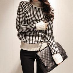 2017 neuer Turtleneck gestrickte Kleider für Frauen-langen Hülsen-Pullover