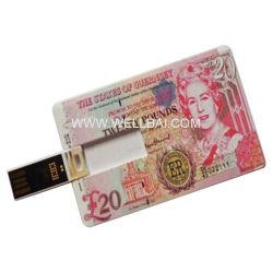 Рекламные кредитной карты флэш-накопитель USB
