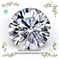 MGO 주옥은 반지와 보석을 만들기를 위한 재고 느슨한 라운드 화려한 Def Vvs 백색 Moissanite에서 도매한다