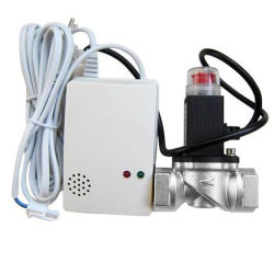 Bonne qualité de l'alarme du détecteur de gaz combustible avec vanne d'arrêt de gaz