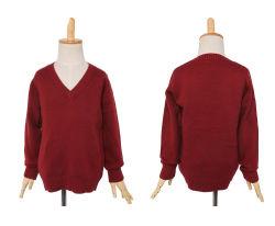 Moda Easy Care Red V pescoço filhos crianças Cashmere Cardigan suéter