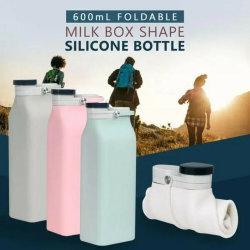 600ml copos recolhível dobrar a beber água garrafas recipientes de água do Rolo