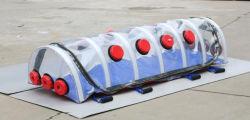 病院医療用緊急用折りたたみタンクの負圧絶縁チャンバカプセル 患者隔離ストレッチャー酸素供給コネクタの搬送