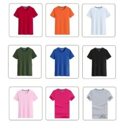 도매 100% 코튼 맞춤 인쇄 자수 원형 넥 반팔 Double Needle Adult 남성용 티셔츠